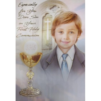 Son Communion Card with ideal words