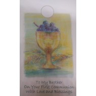 Brother First Holy Communion Card