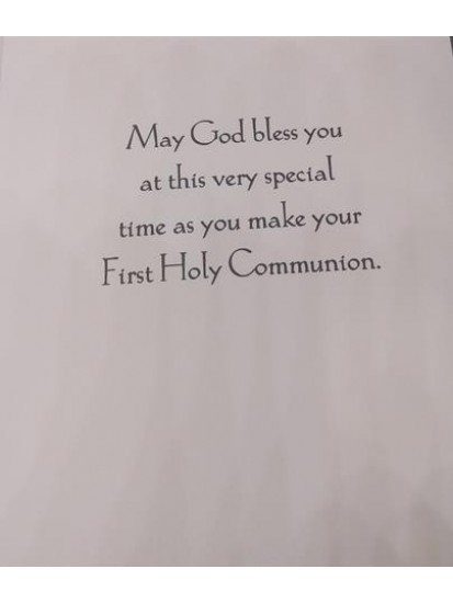 Sister First Holy Communion Card...
