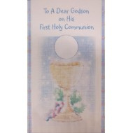 Godson First Holy Communion Card