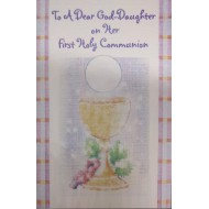 Goddaughter First Holy Communion Card