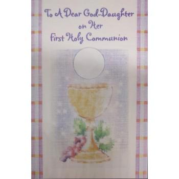 Goddaughter 1st Holy Communion Card