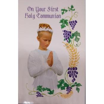 Girl: 1st Communion Card
