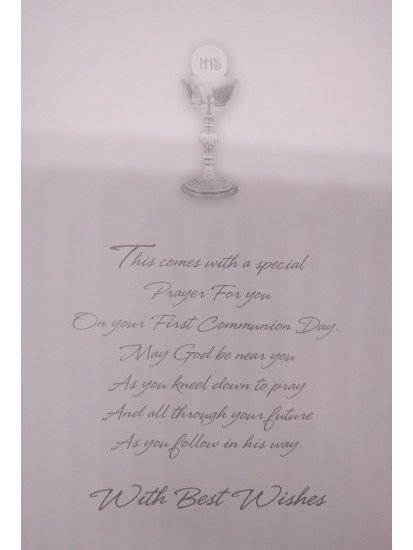 Son Holy Communion Card with ideal words...