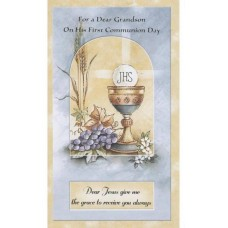 Communion Card Grandson