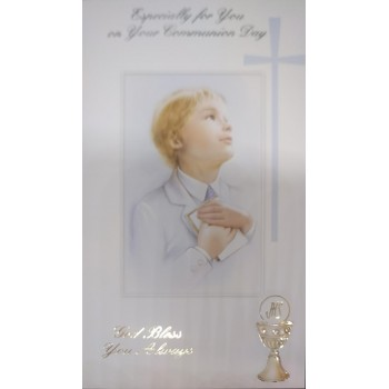 Boy Communion Card: Ideal for First Holy Communion