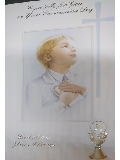 Boy Holy Communion Card: Ideal for First Holy Communion...
