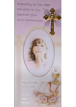 Daughter Boxed First Communion Card