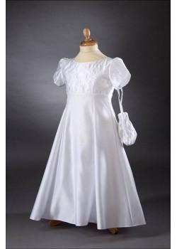 Satin Empire Line Communion Dress/Gown: