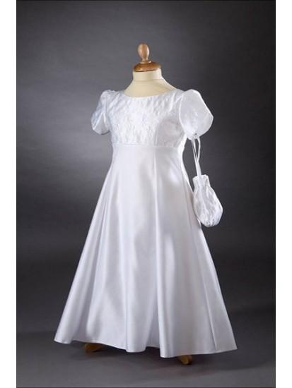 Satin Empire Line Communion Dress/Gown:...