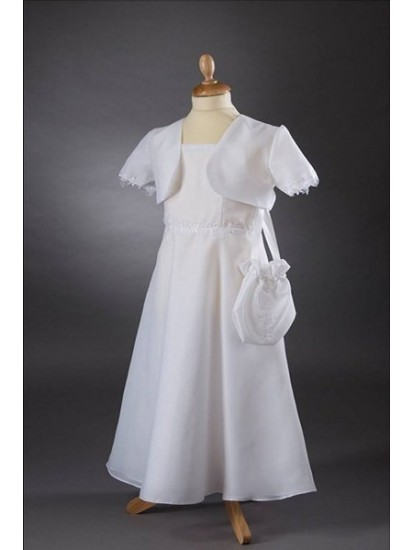 A-Line Gown With Chiffon Communion Dress:...