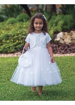 Ballerina Length Holy Communion Dress with bolero and bag: