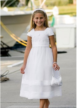 Ankle length  Holy Communion Dress with bag and headband