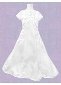 Satin A Line Holy Communion Dress:
