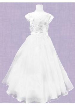 Flared Satin & Net First Holy Communion Dress: