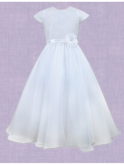 Flared Organza First Holy Communion Dress:...