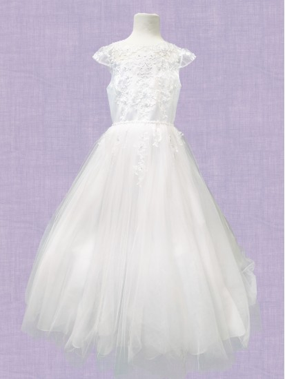Ankle Length First Holy Communion Dress:...