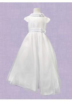 Full Skirt Satin & Net First Holy Communion Dress: