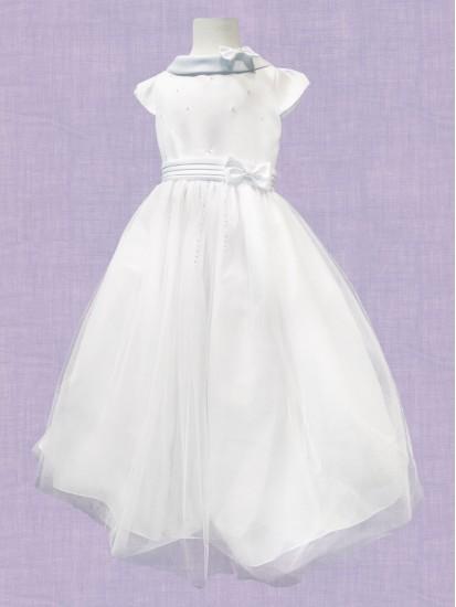 Full Skirt Satin & Net First Holy Communion Dress:...