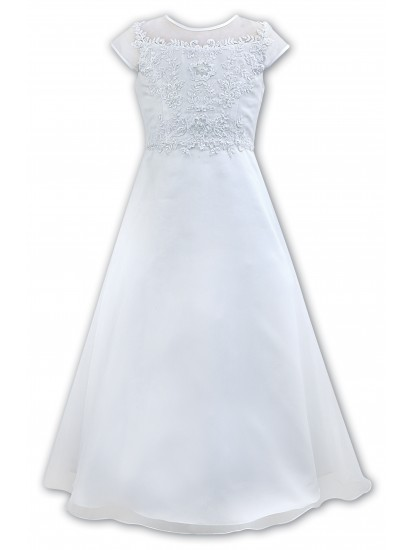 Organza Flared First Communion Dress:...