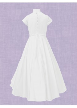 Ankle Length Communion Dress with round neck
