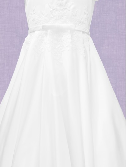 Ankle Length Communion Dress with round neck...