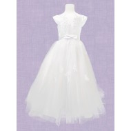 First Communion Dress with capped sleeve: