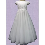 First Communion Dress with Flair Ankle Length Skirt
