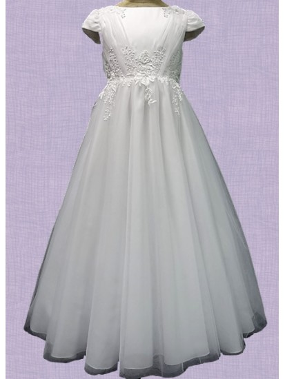 First Communion Dress with Flair Ankle Length Skirt...