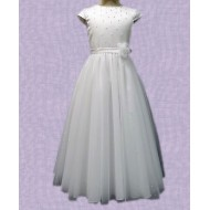 Net Skirt full length Communion Dress