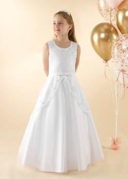 Sleeveless A-line Holy Communion dress.