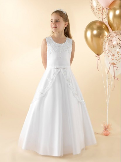 Sleeveless A-line Holy Communion dress.:...