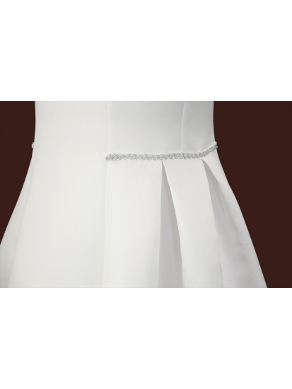 Satin First Holy Communion Dress:...