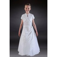 Holy Communion Dress with Pleat Taffeta and lovely jacket: