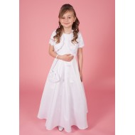 Holy Communion Dress with Lace Bodice & Jacket Plain Satin Skirt &  Matching Bag
