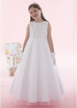 Sparkly Holy Communion Dress with Organza Skirt