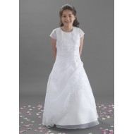 Full Length Holy Communion Dress with Beaded Lace along Jacket: