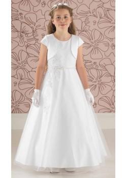 Tulle Communion Dress With Satin Jacket