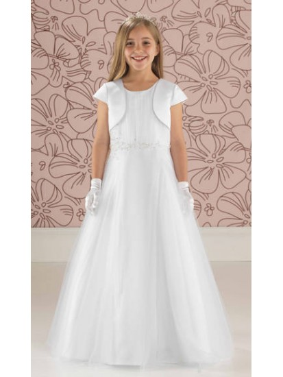 Free plain short sleeve satin jacket included with this Full Length Tulle C...