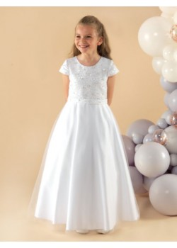 A pretty full length First Holy Communion Dress: