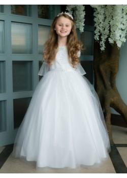 Beautiful Bell Sleeve First Communion Dress: