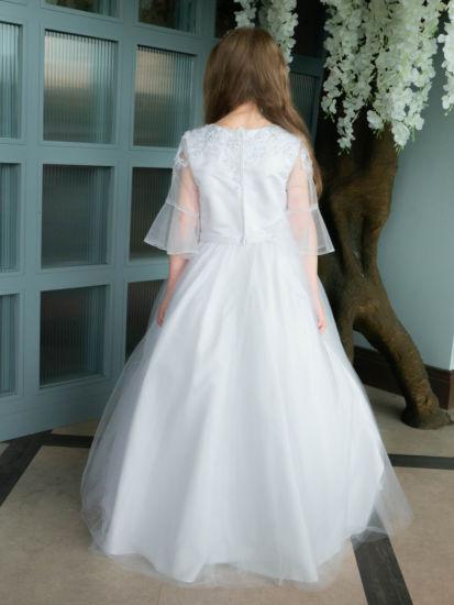 Beautiful Bell Sleeve First Communion Dress:...