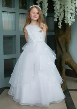 Organza Tiered Communion Dress