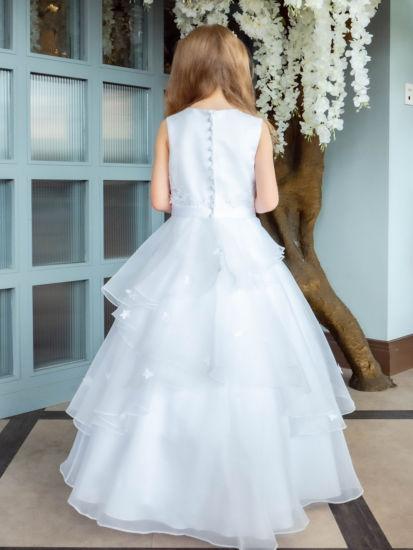 Organza Tiered Holy Communion Dress:...