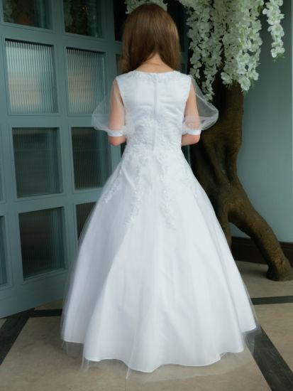Puff Sleeve First Communion Dress:...