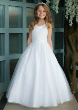 Pearl Bodice Holy Communion Dress:
