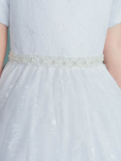 Short Sleeve Lace First Holy Communion Dress:...