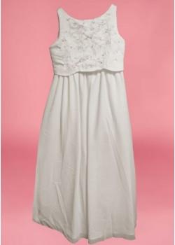 Sleeveless Round Neck flarred Organza  Holy Communion Dress: