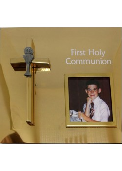 First Holy Communion Brass Photo Frame