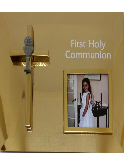 Brass Photo Frame: Good Gift for Holy Communion...